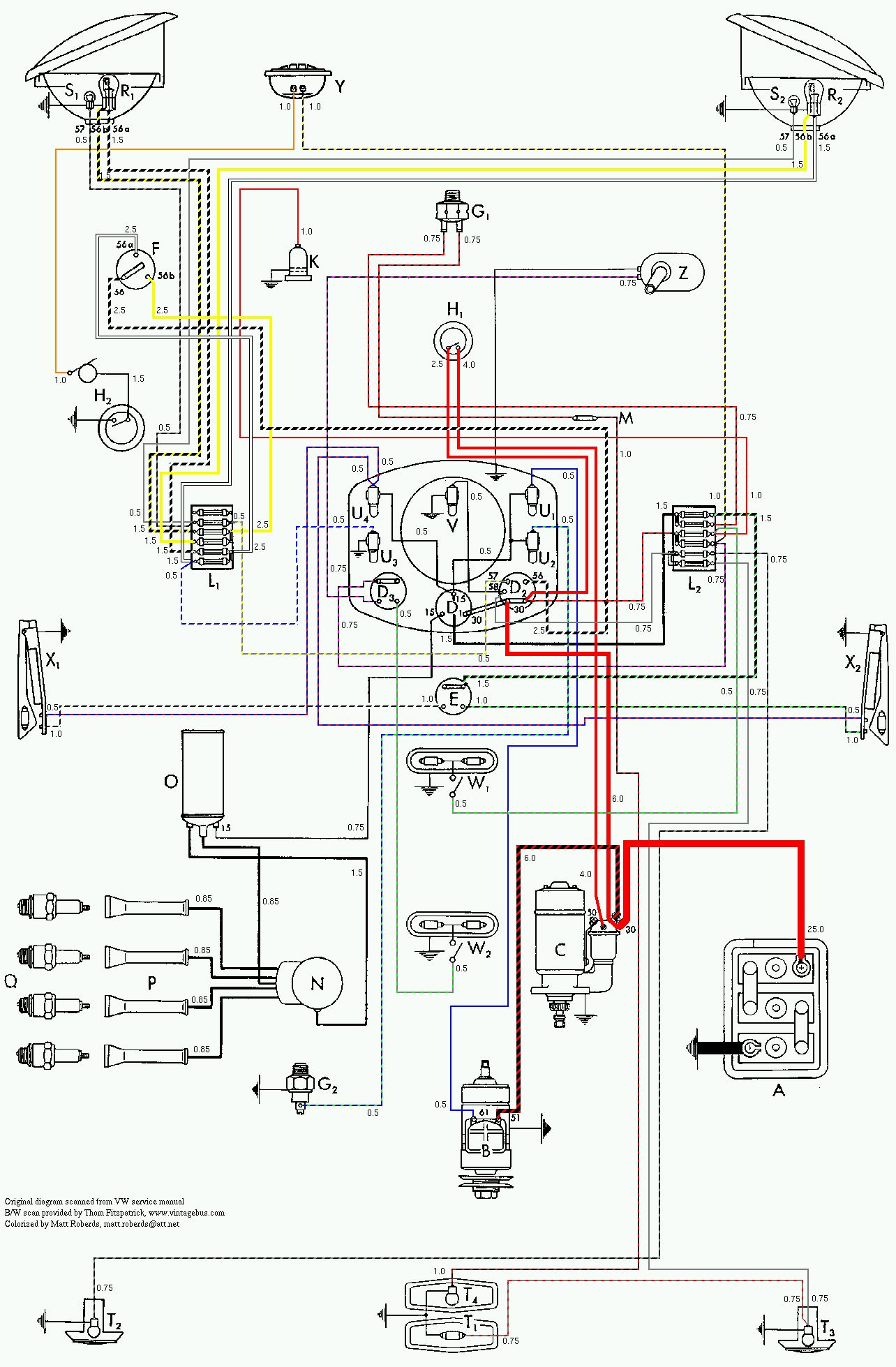 1950 to 1953 1956 vw beetle wiring diagram volkswagen beetle wiring diagram