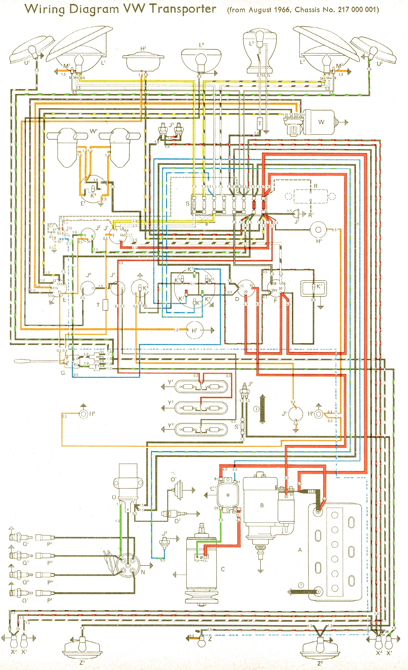 Wiring Diagram For 1975 Vw Beetle : To
